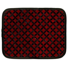Circles3 Black Marble & Red Grunge Netbook Case (large) by trendistuff