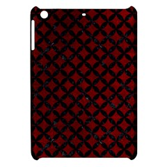 Circles3 Black Marble & Red Grunge Apple Ipad Mini Hardshell Case by trendistuff