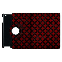 Circles3 Black Marble & Red Grunge Apple Ipad 3/4 Flip 360 Case by trendistuff