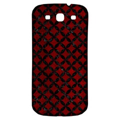 Circles3 Black Marble & Red Grunge Samsung Galaxy S3 S Iii Classic Hardshell Back Case by trendistuff