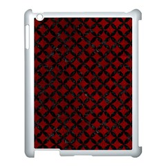 Circles3 Black Marble & Red Grunge Apple Ipad 3/4 Case (white) by trendistuff