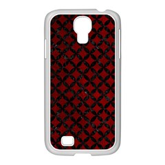 Circles3 Black Marble & Red Grunge Samsung Galaxy S4 I9500/ I9505 Case (white) by trendistuff