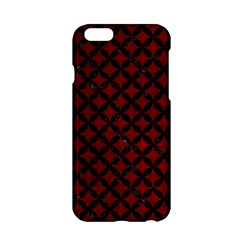Circles3 Black Marble & Red Grunge Apple Iphone 6/6s Hardshell Case