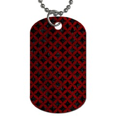Circles3 Black Marble & Red Grunge (r) Dog Tag (two Sides) by trendistuff
