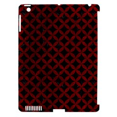 Circles3 Black Marble & Red Grunge (r) Apple Ipad 3/4 Hardshell Case (compatible With Smart Cover) by trendistuff