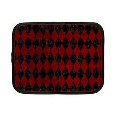 Diamond1 Black Marble & Red Grunge Netbook Case (small)  by trendistuff