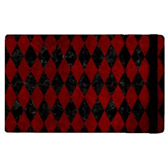 Diamond1 Black Marble & Red Grunge Apple Ipad 3/4 Flip Case by trendistuff