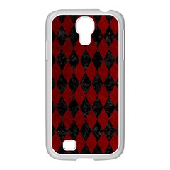 Diamond1 Black Marble & Red Grunge Samsung Galaxy S4 I9500/ I9505 Case (white) by trendistuff