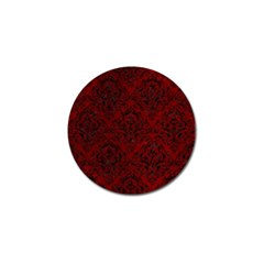 Damask1 Black Marble & Red Grunge Golf Ball Marker (4 Pack) by trendistuff