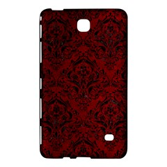 Damask1 Black Marble & Red Grunge Samsung Galaxy Tab 4 (7 ) Hardshell Case  by trendistuff
