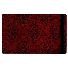Damask1 Black Marble & Red Grunge Apple Ipad Pro 9 7   Flip Case by trendistuff
