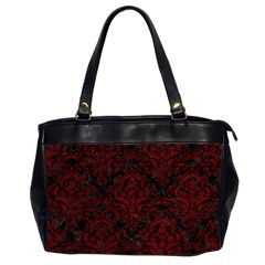 Damask1 Black Marble & Red Grunge (r) Office Handbags (2 Sides)  by trendistuff