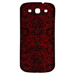 Damask2 Black Marble & Red Grunge Samsung Galaxy S3 S Iii Classic Hardshell Back Case by trendistuff
