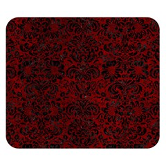Damask2 Black Marble & Red Grunge Double Sided Flano Blanket (small)  by trendistuff