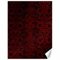 Damask2 Black Marble & Red Grunge (r) Canvas 18  X 24   by trendistuff
