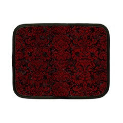 Damask2 Black Marble & Red Grunge (r) Netbook Case (small)  by trendistuff