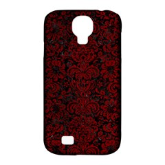 Damask2 Black Marble & Red Grunge (r) Samsung Galaxy S4 Classic Hardshell Case (pc+silicone) by trendistuff