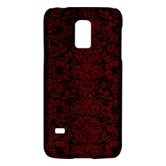 Damask2 Black Marble & Red Grunge (r) Galaxy S5 Mini by trendistuff