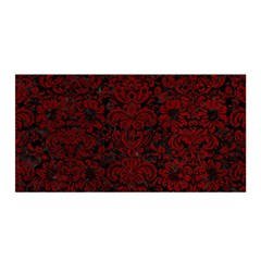 Damask2 Black Marble & Red Grunge (r) Satin Wrap by trendistuff