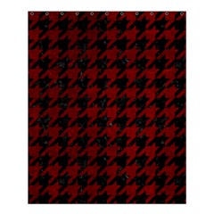 Houndstooth1 Black Marble & Red Grunge Shower Curtain 60  X 72  (medium)  by trendistuff