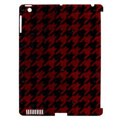 Houndstooth1 Black Marble & Red Grunge Apple Ipad 3/4 Hardshell Case (compatible With Smart Cover) by trendistuff