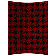 Houndstooth1 Black Marble & Red Grunge Back Support Cushion by trendistuff