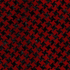 Houndstooth2 Black Marble & Red Grunge Magic Photo Cubes by trendistuff