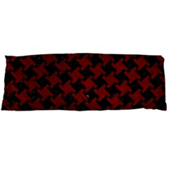 Houndstooth2 Black Marble & Red Grunge Body Pillow Case (dakimakura) by trendistuff