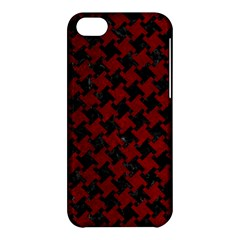 Houndstooth2 Black Marble & Red Grunge Apple Iphone 5c Hardshell Case by trendistuff