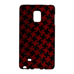 Houndstooth2 Black Marble & Red Grunge Galaxy Note Edge by trendistuff
