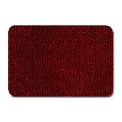 Hexagon1 Black Marble & Red Grunge Plate Mats by trendistuff