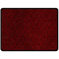 Hexagon1 Black Marble & Red Grunge Double Sided Fleece Blanket (large)  by trendistuff