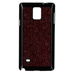 Hexagon1 Black Marble & Red Grunge (r) Samsung Galaxy Note 4 Case (black) by trendistuff