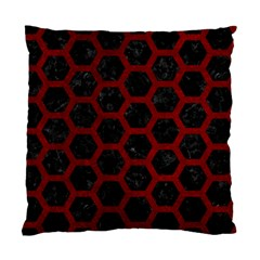 Hexagon2 Black Marble & Red Grunge (r) Standard Cushion Case (two Sides) by trendistuff