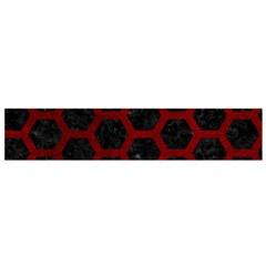 Hexagon2 Black Marble & Red Grunge (r) Flano Scarf (small) by trendistuff