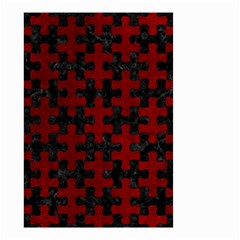 Puzzle1 Black Marble & Red Grunge Small Garden Flag (two Sides) by trendistuff