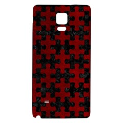 Puzzle1 Black Marble & Red Grunge Galaxy Note 4 Back Case by trendistuff