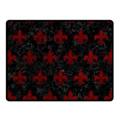 Royal1 Black Marble & Red Grunge Fleece Blanket (small) by trendistuff
