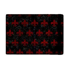 Royal1 Black Marble & Red Grunge Apple Ipad Mini Flip Case by trendistuff