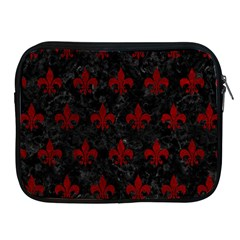 Royal1 Black Marble & Red Grunge Apple Ipad 2/3/4 Zipper Cases by trendistuff