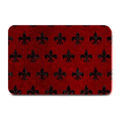 Royal1 Black Marble & Red Grunge (r) Plate Mats by trendistuff