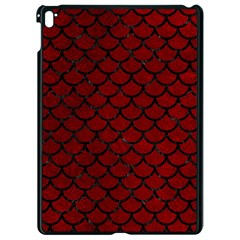 Scales1 Black Marble & Red Grunge Apple Ipad Pro 9 7   Black Seamless Case by trendistuff