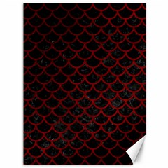 Scales1 Black Marble & Red Grunge (r) Canvas 36  X 48   by trendistuff