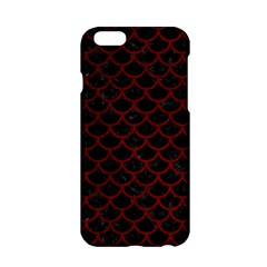 Scales1 Black Marble & Red Grunge (r) Apple Iphone 6/6s Hardshell Case by trendistuff