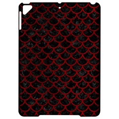 Scales1 Black Marble & Red Grunge (r) Apple Ipad Pro 9 7   Hardshell Case