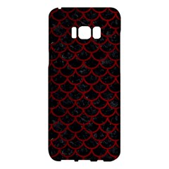 Scales1 Black Marble & Red Grunge (r) Samsung Galaxy S8 Plus Hardshell Case  by trendistuff