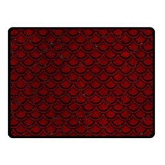 Scales2 Black Marble & Red Grunge Double Sided Fleece Blanket (small)  by trendistuff