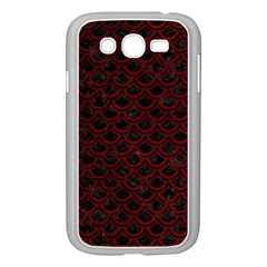 Scales2 Black Marble & Red Grunge (r) Samsung Galaxy Grand Duos I9082 Case (white) by trendistuff