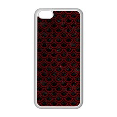 Scales2 Black Marble & Red Grunge (r) Apple Iphone 5c Seamless Case (white) by trendistuff