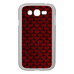 Scales3 Black Marble & Red Grunge Samsung Galaxy Grand Duos I9082 Case (white) by trendistuff